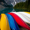 Canoes at Lake Moraine