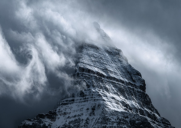 Assiniboine with some moody clouds