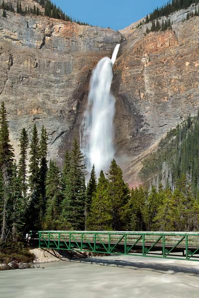 Bridge over River at Takakkaw Falls, Canada