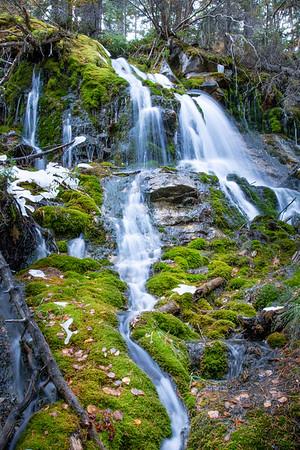 Verdant Waterfall below Grassi Lakes