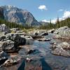 Boulders along shoreline of Constitution Lakes