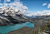 Peyto Lake (panorama - three vertical images) - Banff National Park, Canada - Mark Gromko - October 2014
