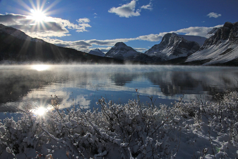 Herbert Lake Sunrise - Banff National Park, Alberta, Canada - Sue Cole - October 2014