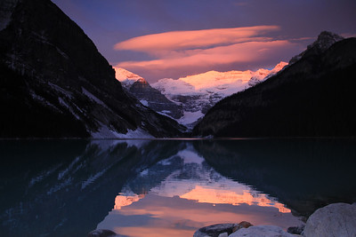Lake Louise Sunrise - Lake Louise, Banff National Park, Alberta, Canada - Sue Cole - October 2014