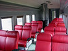Interior of unidentified coach, Corner Brook Rly Museum, Newfoundland, 29 September 2005.  There is almost as much space in this 3ft 6in gauge coach as in a British standard gauge coach.