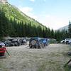 60 cars in the carpark the day we went up ! uber crowded but not so bad at the camp or on the climbs.