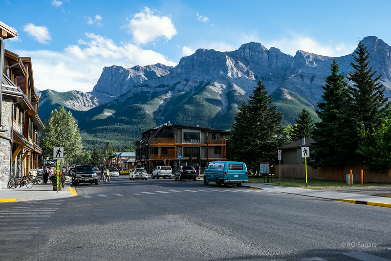 On the streets of Canmore.