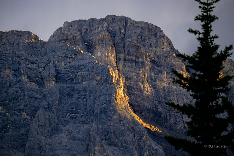 Sunset on the mountain - Canmore hike.