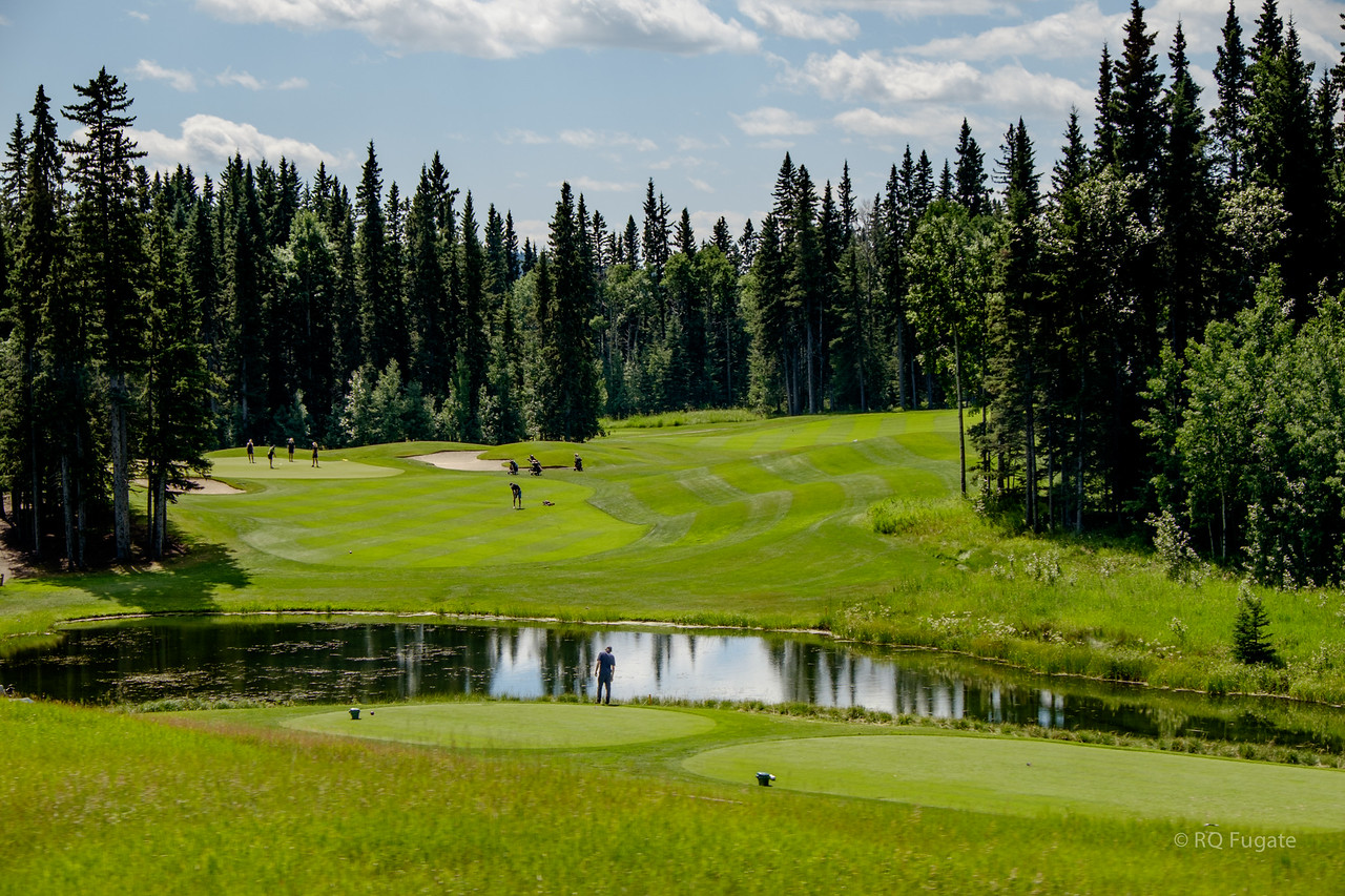 Golf courses on the Cowboy Trail.