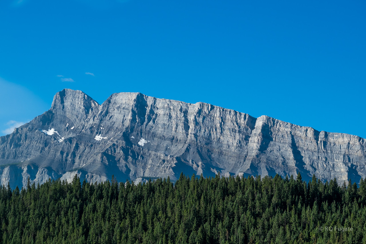 Side view of Rundle Mountain