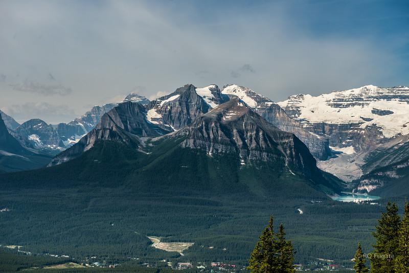 Views from Lake Louise ski lift summit.