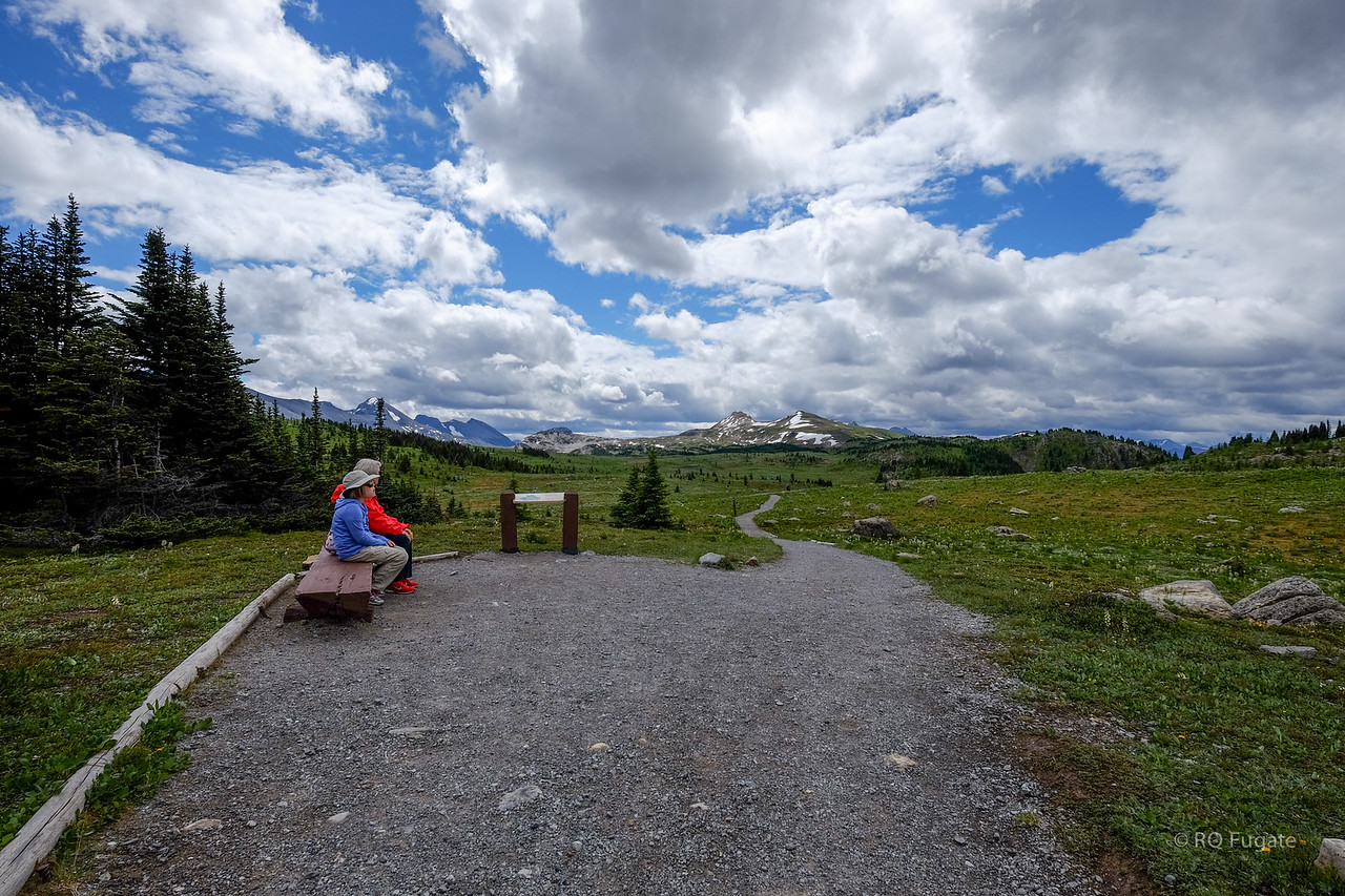 Hike to Sunshine Meadows west of Banff. We were too early for the flowers - mid August is best.