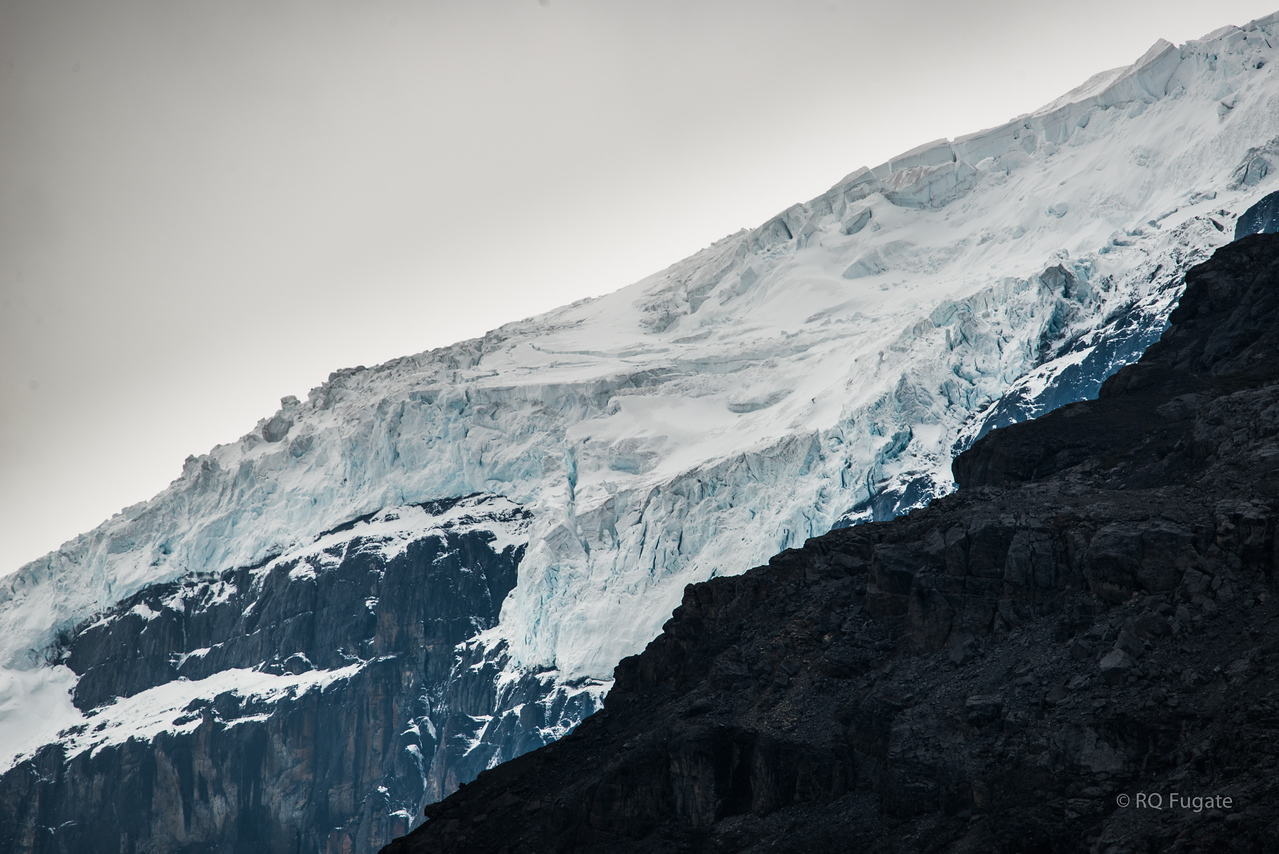 Glaciers at the Columbia Icefield.