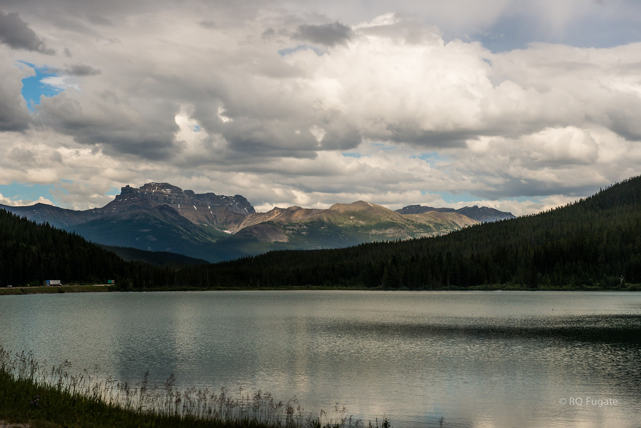 Wapta Lake near the Continental Divide on the Trans-Canada Highway.