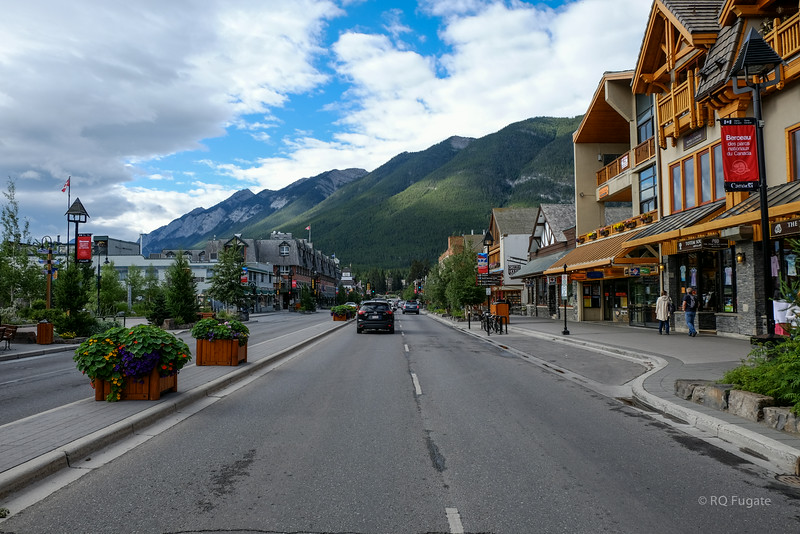 View from Banff Ave in Banff.