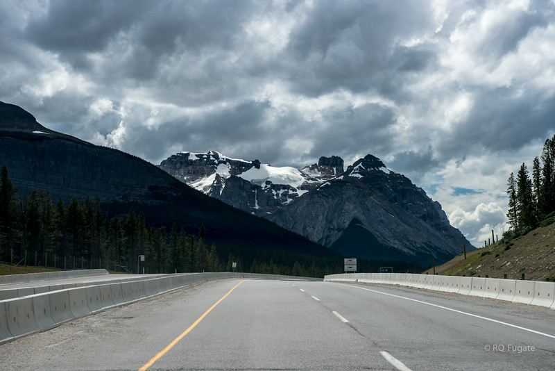 View from Trans-Canada Highway west of Lake Louise near the Continental Divide (and British Columbia border).