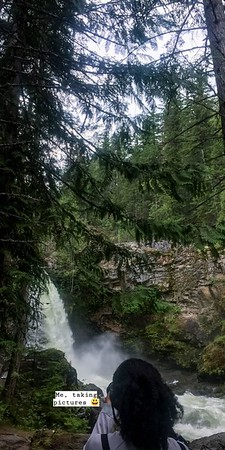Me taking pictures (Sutherland falls, the river. Blanket Creek Provincial Park)