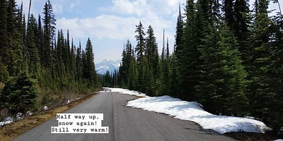 We are strong :P Hiking up (Mt. Revelstoke National Park)