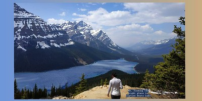 Ah, beautiful Peyto Lake (Icefields Parkway)