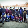 Group photo of UMass Lowell students with Rocky Morrison (far right) who is the President of Clean River Project. SUN/Caley McGuane