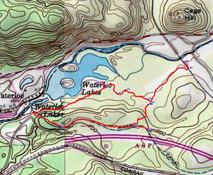 Waterloo-map Plane_3W+4W hike 1-15-14