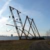 Boat works monument in Rutkowski Park in Bayonne.