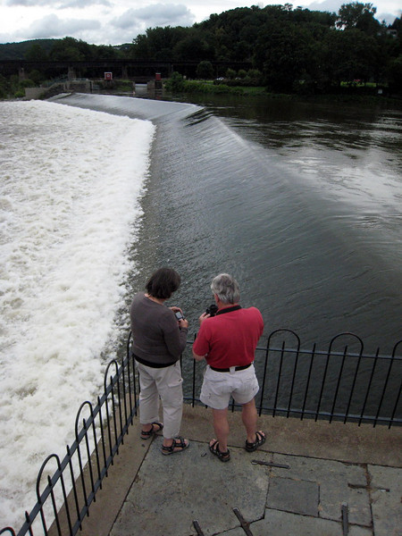 Carmina and Ronald at the confluence of the Lehigh and Delaware rivers in Easton, PA.