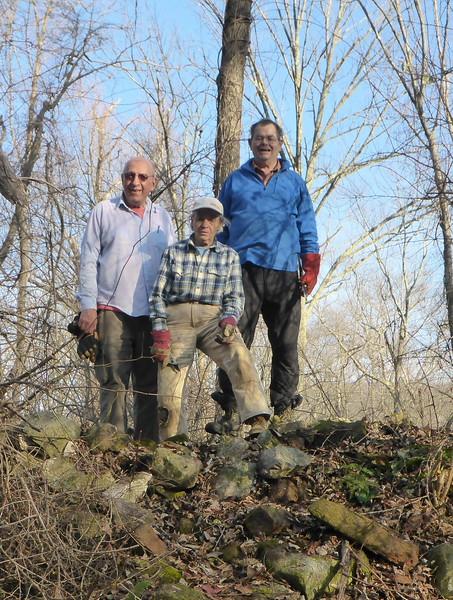 On top of the limekiln (Frank, Judy, Teun) - 12/10/15.