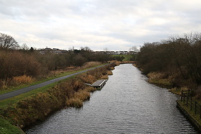 Lock 20 looking east at Banknock