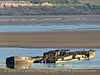 Wrecks of WASTDALE H and ARKENDALE H, the tankers which collided with and destroyed two spans of the the Severn Railway Bridge on October 25, 1960. Photographed on the morning of April 17, 2014.