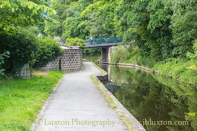 Llangollen Canal - Siambr-Wen Bridge - July 02, 2020 View west to Llangollen Wharf and Siambr-