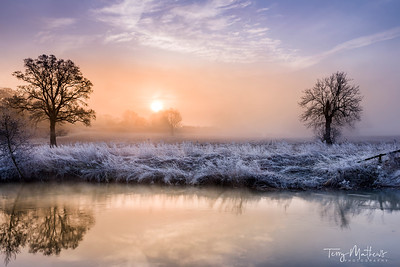 Wiltshire Avon January Sunrise