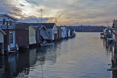 city pier boathouses, canandaigua