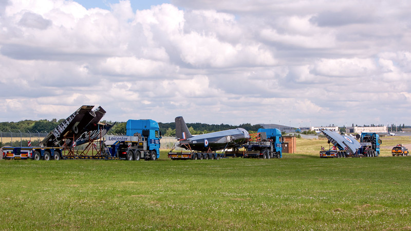 The kit of parts arrive safely on the airfield.<br /> By Tom Wray.