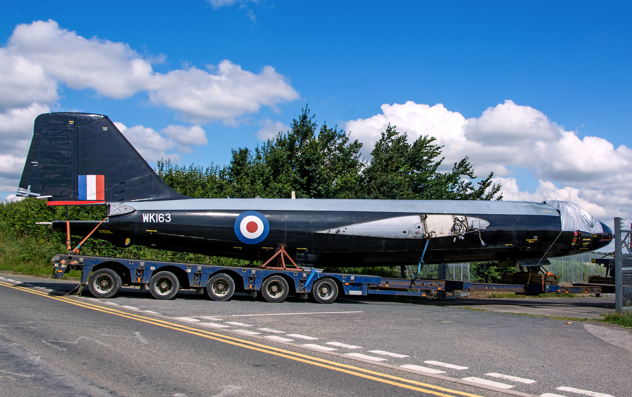Canberra B2/6 Wk163, (G-CTTS).<br /> By Tom Wray