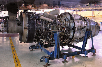 WK275's Rolls Royce Avon 114 with a cartridge starter attached to the intake. By Jim Calow.