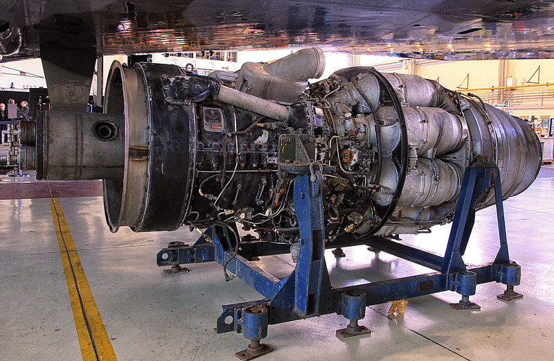WK275's Rolls Royce Avon 114 with a cartridge starter attached to the intake.<br /> By Jim Calow.