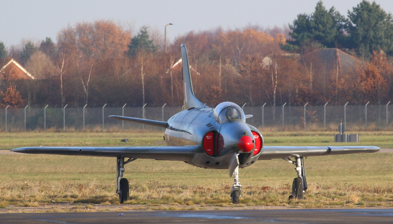 """Swift F.4 WK275 """"out to grass""""..........for the Winter ??<br /> By Correne Calow."""