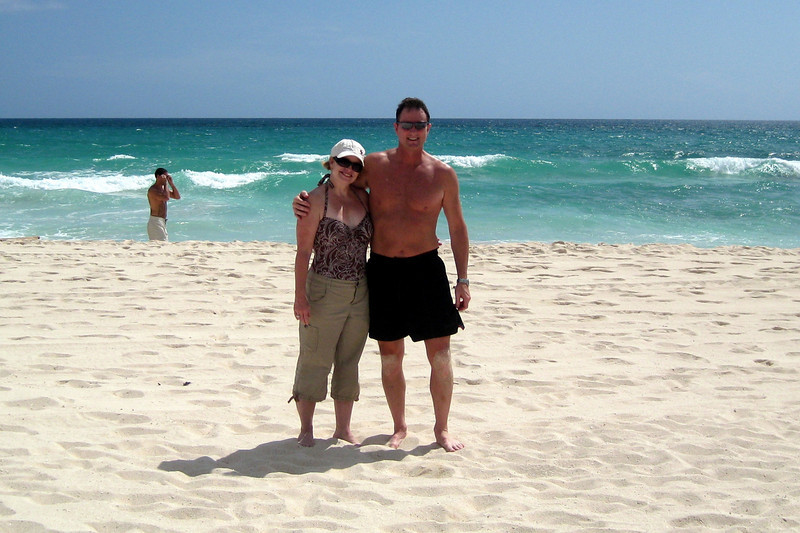 Cheri and me at the beach
