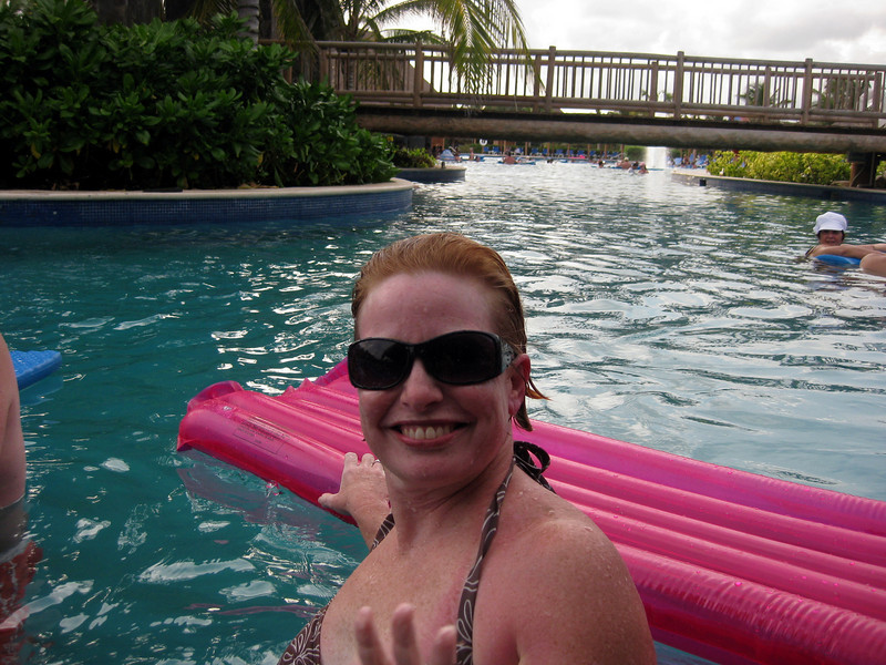 Cheri at the pool