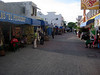 Side street in Playa del Carmen.One quickly learns to walk--not stroll--and avoid eye contact with the street vendors.