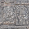 The Tzompantli structure at Chichén Itzá is where the heads of sacrificial victims were placed