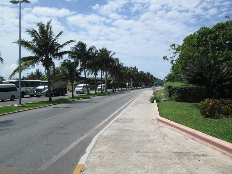 The road along the Hotel Zone