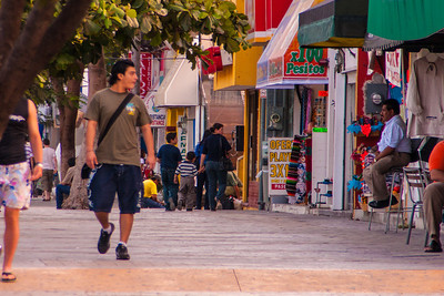 Downtown Cancun is colorful, but a bit run down.