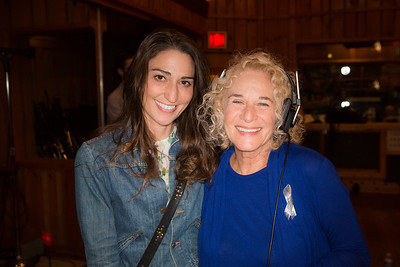 "Sara Bareilles and Carole King at the Broadway for Orlando benefit single recording of ""What the World Needs Now Is Love"" - June 15, 2016 - Avatar Studios, NYC (Photo: Jeremy Daniel)"