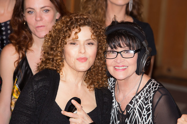 "Bernadette Peters and Chita Rivera at the Broadway for Orlando benefit single recording of ""What the World Needs Now Is Love"" - June 15, 2016 - Avatar Studios, NYC (Photo: Jeremy Daniel)"