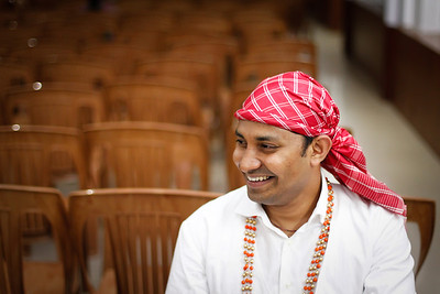 Candid shot of a Coorg groom