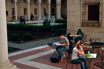 Boston Library Courtyard - The courtyard of the Boston Public Library is designed a bit like the courtyard in a medieval Italian villa.