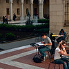 <b>Boston Library Courtyard</b> - The courtyard of the Boston Public Library is designed a bit like the courtyard in a medieval Italian villa.
