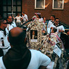 <b>Santa Rosalia Di Palermo Procession</b> - This parade in Boston's North End involves marching two dollar bill covered saints around the neighborhood, while a band follows the around.